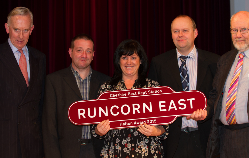 Runcorn East win the Halton Award 2015